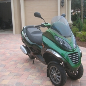 Butterfly Wing 2008 Piaggio Mp3 Custom Cutting Edge