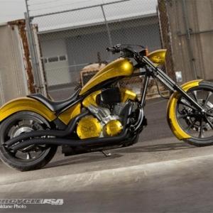 Pagan Gold Honda Fury   Custom   Cutting Edge Illusions