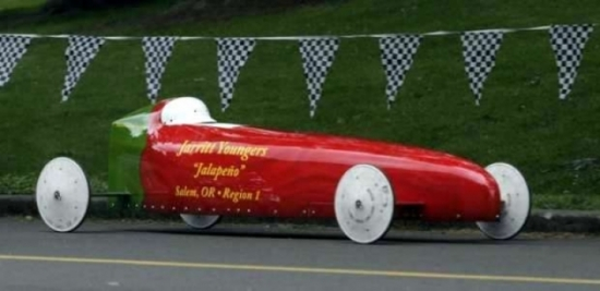 Chili Pepper Soapbox Derby Car Custom Cutting Edge