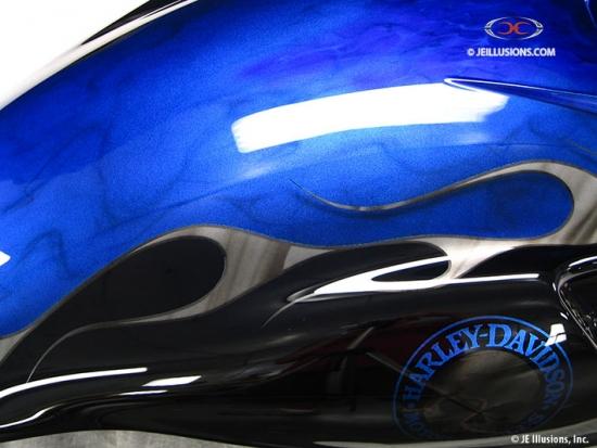 Dusk Harley V Rod Custom Cutting Edge Illusions