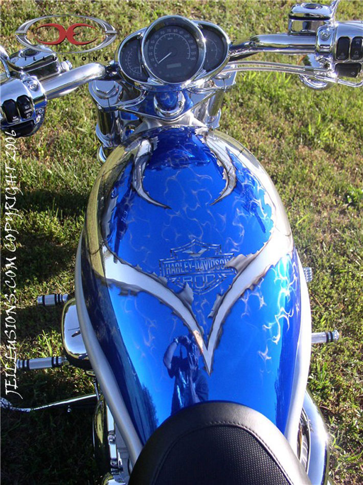 Ripped Metal Paint On Harley