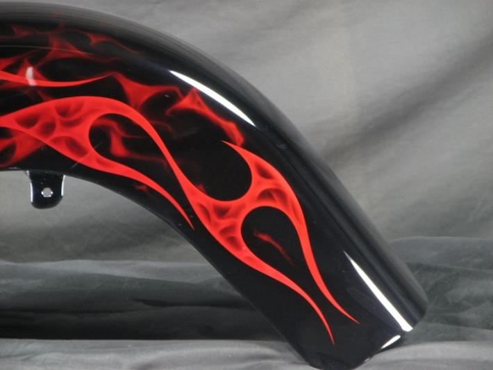 Hollow Flames Harley Heritage Softail Custom Cutting