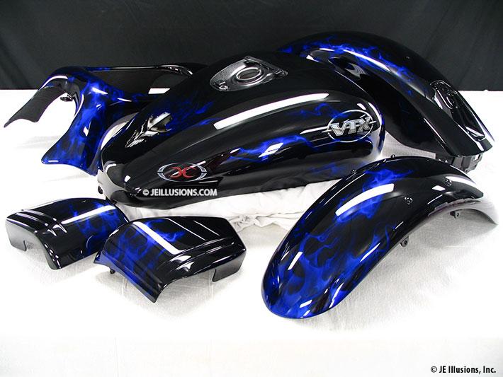 Honda Repair Shop >> Emblem Fire Honda VTX | Custom | Cutting Edge Illusions